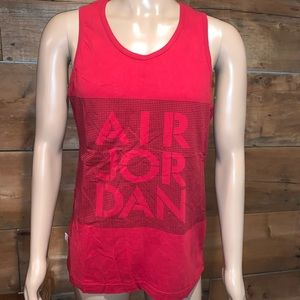 Air Jordan Mens Red Tank Top SZ.L